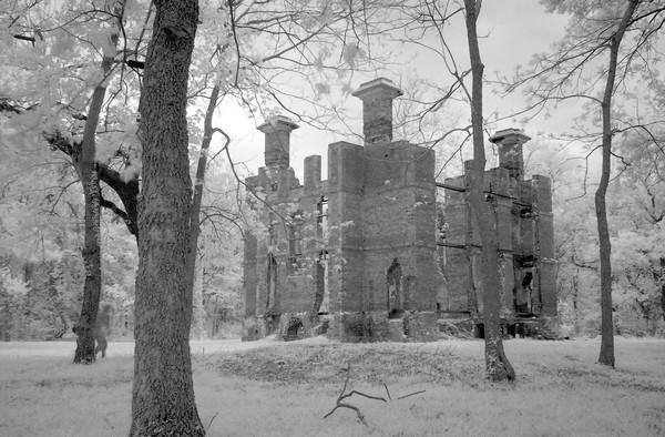 Late in the day at the ruins of the Rosewell Plantation in Gloucester County. The photographer creeps up on the ruins from behind a tree during a long time exposure; creating a haunting image.
