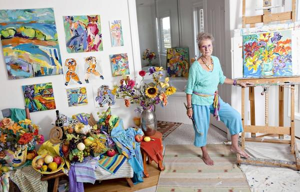 Inga-Charlotte Doerp has a home full of art from floor to ceiling and she has agreed to sell many of her works with a portion to benefit the Hampton Arts, which is celebrating its 25th anniversary this year. Hampton Arts is planning a brunch/art sale in her home on Sunday, Nov 11th.