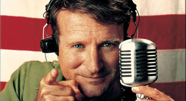Robin Williams was Oscar-nominated for playing an irreverent disc jockey on Armed Forces Radio.