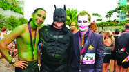 The Hulk, Batman and the Joker