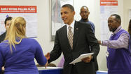 Obama votes early