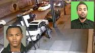 The NYPD released dramatic surveillance footage Thursday showing a wounded, off-duty police officer—clutching his bloody chest—chasing the robbers who had just shot him…and killing one of them with a gunshot to the head.