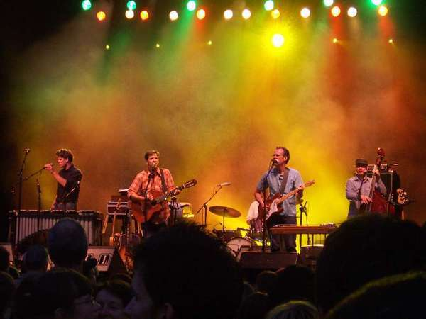 Calexico, with the benefit of electricity, at a show in 2010.