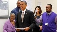 President Barack Obama today returned to the South Side and cast an early vote near his Kenwood home.