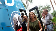 While the presidential candidates were in other battleground states on Thursday, both the Barack Obama and Mitt Romney campaigns were in Broward.
