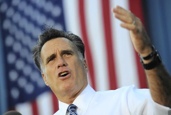 Mitt Romney campaigns in Worthington, Ohio.