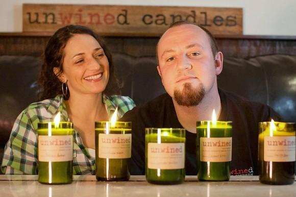 Unwined Candles, a Sykesville home-based business run by Dave and Anna Neith