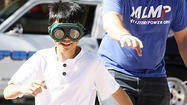 Photo Gallery: La Canada High School students navigate with 'drunk' goggles