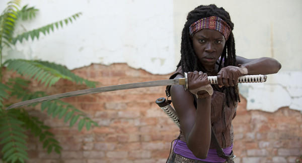 "Danai Gurira eagerly took on the challenge of playing Michonne in ""The Walking Dead."""
