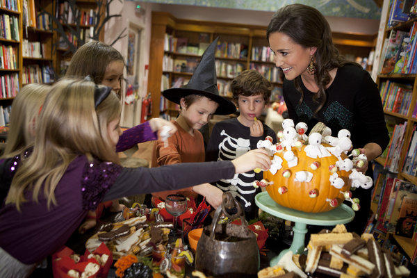 "Pippa Middleton launches her book, ""Celebrate,"" at an afternoon children's Halloween party held at Daunt Books in London."
