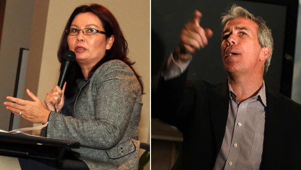 Candidates for the 8th Congressional District seat, Democrat Tammy Duckworth (left) and Republican U.S. Rep. Joe Walsh hold campaign events Thursday night.