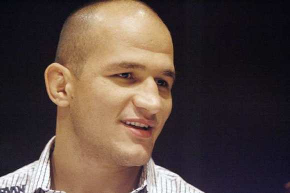 ARCHIVE PHOTO: UFC heavyweight champ Junior Dos Santos stopped by Morton's Steakhouse in Burbank to talk about his upcoming bout with Cain Velasquez.
