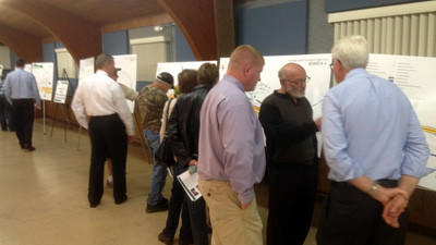 New Baltimore residents attended an open house-style meeting Thursday hosted by the Pennsylvania Turnpike Commission. The commission plans to invest $180 million for the reconstruction and widening of eight miles of the turnpike from milepost 125.6 to milepost 133.5.