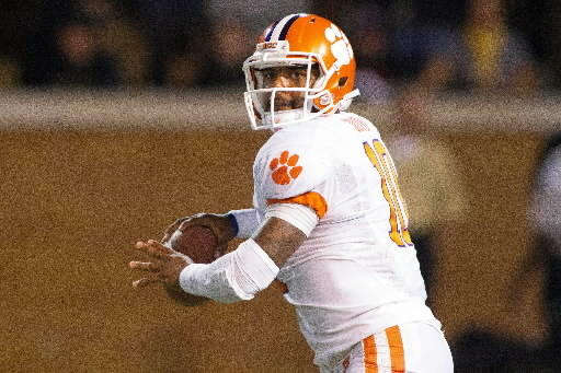 Phoebus High graduate Tajh Boyd throws on his way to setting a Clemson record with 428 passing yards in a 42-13 win over Wake Forest.