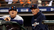 SAN FRANCISCO — Twenty-seven seasons after their first game together, Jim Leyland was in the dugout, Gene Lamont the third base coach's box.