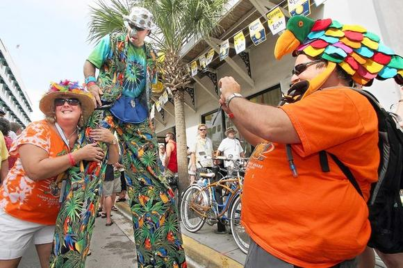 Jimmy Buffett fans in Key West