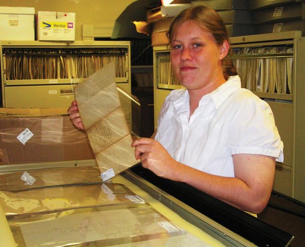 Janina Wiles has been working for more than a year on cataloging thousands of official, hand-written original documents.