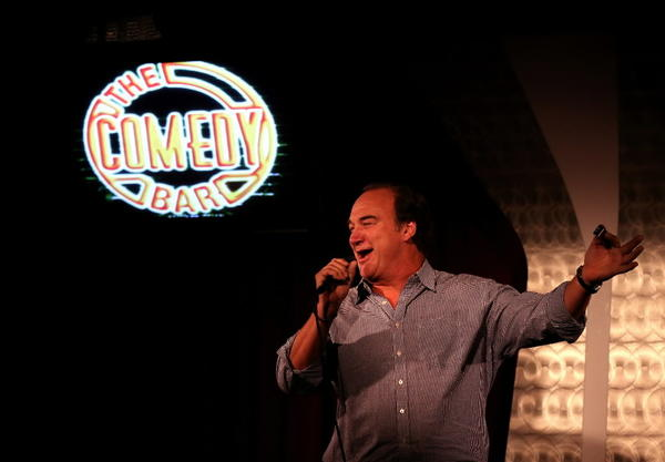 Jim Belushi entertains the crowd after a harmonica solo at The Comedy Bar, at 157 W. Ontario in Chicago.