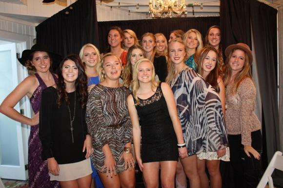 Newport Harbor High School girls¿ volleyball team modeled clothes during its fashion show fundraiser Sunday.