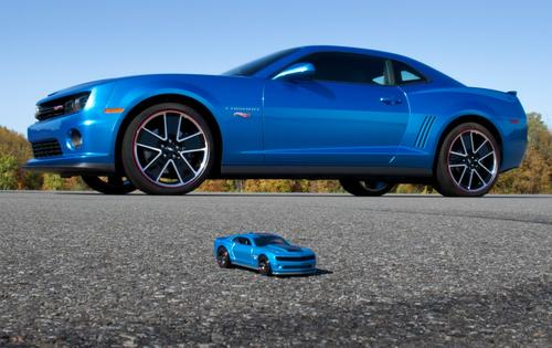 The toy version of the Hot Wheels Camaro is all grown up in the full-size Chevrolet model.
