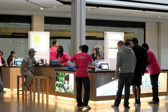 Microsoft pop-up shop
