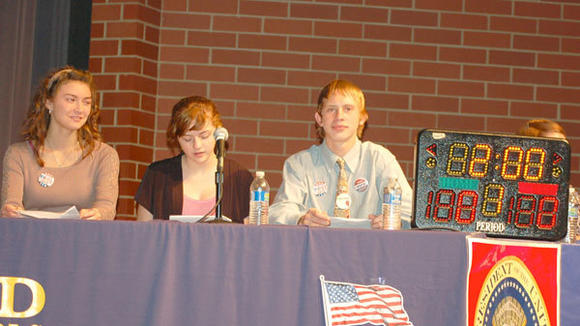 Gaylord High School students hosted a meet the candidates forum Wednesday at the Gornick Auditorium. Candidates running for four different seats answered a variety of questions during the two-hour event.