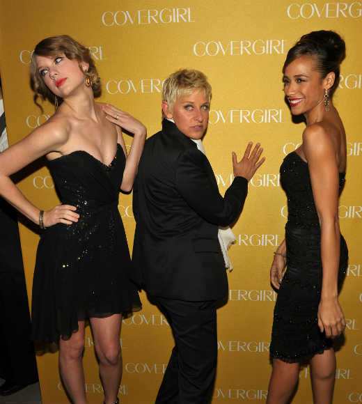 This Covergirl hasn't lost her sense of humor as she poses with Ellen DeGeneres and Dania Ramirez  at the brand's 50th Anniversary Celebration.