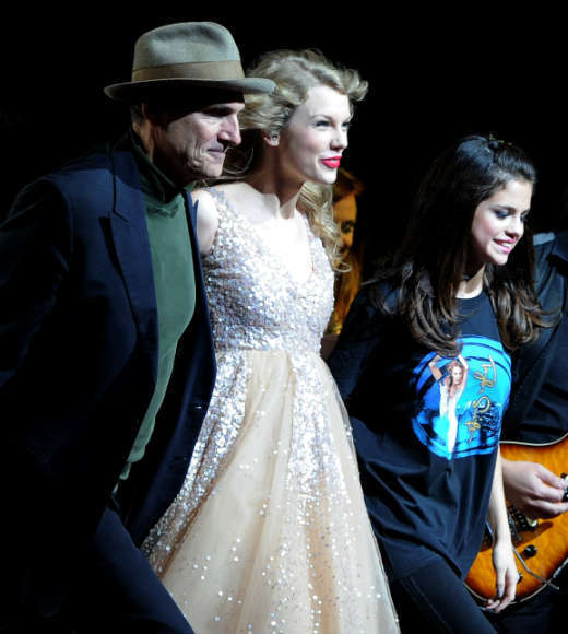 Who else but Taylor could bring both James Taylor and Selena Gomez on stage with her -- and make it work?