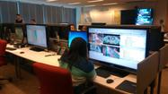 Inside the CTA video surveillance room