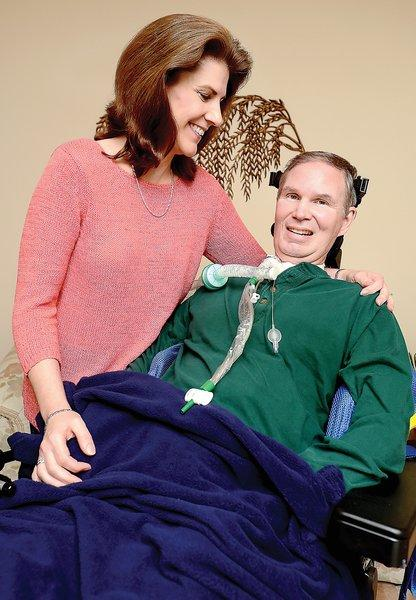 David Muritz of Hagerstown was diagnosed in 2007 with ALS. His wife, Marsha, is his caregiver. David Murtiz is unable to walk or talk, and is on a ventilator. He also has a computer that speaks for him.