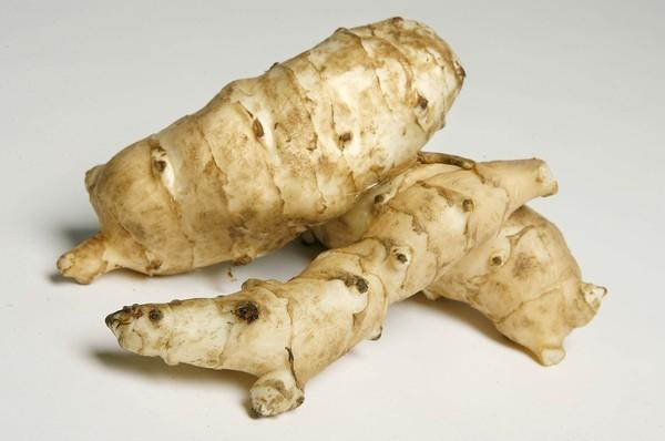 Jerusalem artichokes are tubers, strongly resembling raw ginger in appearance.