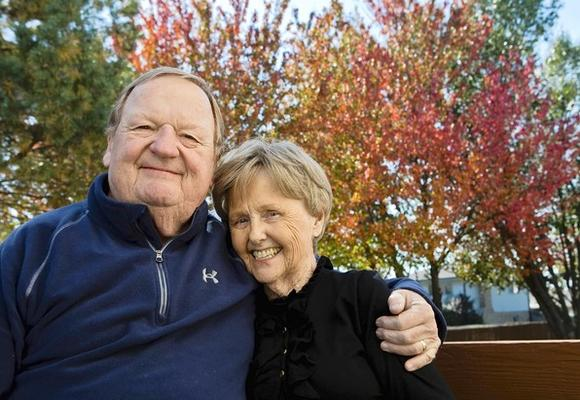 Mary Ann, 74  and Jack Hession, 74 at their home in Tinley Park.