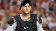 A.J. Pierzynski in action