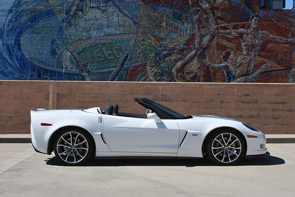 Recipe for the 427: Take from the Z06 one engine, driveline, rear axle, optional Magnetic Ride Control, optional carbon fiber hood and fenders, mix with ZR-1's rear spoiler and lightweight wheels wrapped in Michelin PS2 rubber.