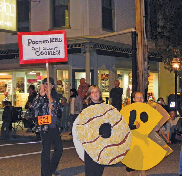 Girl Scout Troop 81005 of Greencastle, Pa., were one of 36 entries in Friday night's Halloween Parade sponsored by the Greencastle Exchange Club.
