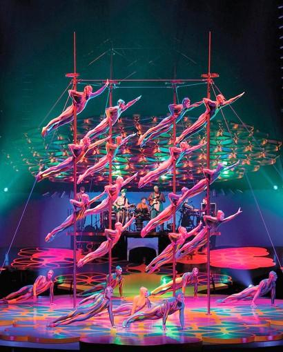 The Chinese Poles is one of many acts that are both beautiful and physically stunning in the the Cirque du Soleil production of 'Saltimbanco,' through Oct. 27 at the Sovereign Center in Reading.