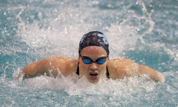 Angela Algee came first in the 50 free (24.71) and the 100 fly (58.10), leading Dr. Phillips to a second-place finish at the Class 3A, District 3 swim meet on Friday.