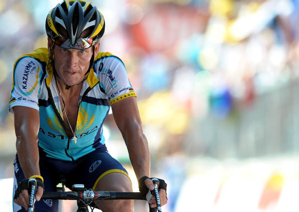 Lance Armstrong at the 2009 Tour de France.