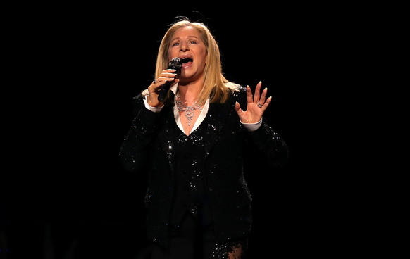 Barbra Streisand performs at the United Center in Chicago on Friday, October 26, 2012.
