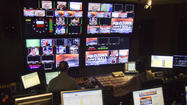 Control room for Fox45 town hall meeting