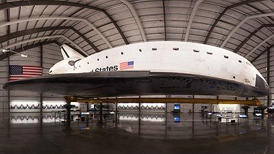 Panorama Space shuttle Endeavour at the California Science Center