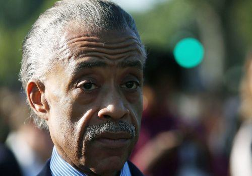 The Rev. Al Sharpton, shown in this Oct. 10 photo, spoke at several voter rallies on Saturday.