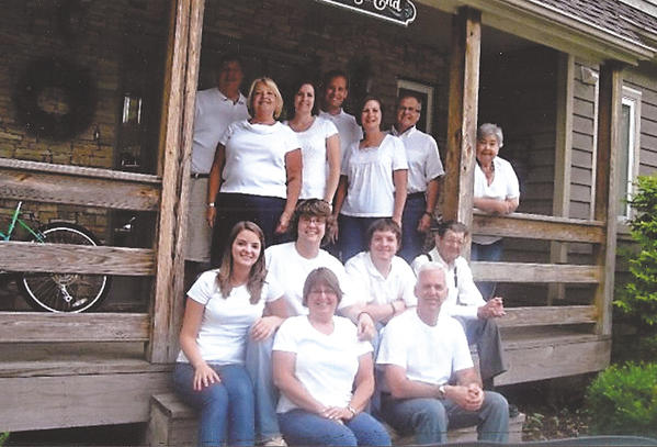 Bernie and Frances Bargiel vacation with their family at Deep Creek Lake, a 16-year tradition. Pictured are, front row, from left, Annette Plitman and Mark Plitman; second row, Laura Plitman, Jodi Plitman, Andy Michel and Bernie Bargiel; and standing, Ted Michel, Joan Michel, Wesley Swain, Jacob Swain, Teresa Swain, Tim Swainand Frances Bargiel.