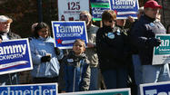 The Democratic and Republican congressional contenders in two suburban districts looked to advance their ground games Saturday, using rallies and other events to encourage supporters to vote early and to get their friends and neighbors to join them.