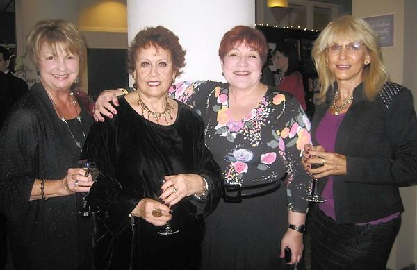 Carol Smoll (left), Rose Ackerman, honoree Fredda Fischman and Marianne Costell-Cranbie enjoyed the Baum School of Art's Oct. 13 'Art in the City' gala. Fischman and her late husband, Bruce Fischman, founded the STAR (Senior Tuition Assistance Reward) program at Baum.