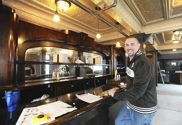 Brew Master, Wayne Milford, of Flemington, NJ, stands in the main bar area of the renovated Two Rivers Brewing Company in Easton on Tuesday.
