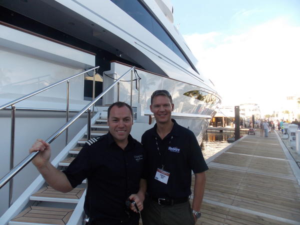 Boat enthusiasts enjoyed the sun while checking out the fabulous yachts at the Fort Lauderdale International Boat Show.