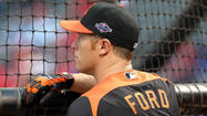 Orioles outfielder Lew Ford, who was limited at the end of the September with discomfort in his midsection, underwent sports hernia surgery this month, according to a club source.