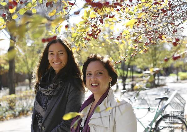 DePaul University professors Camilla Fojas, left, and Laura Kina will host a four-day conference starting Thursday that will explore critical mixed-race studies.