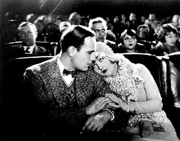 Davies, pictured here with William Haines, plays Peggy Pepper, who is driven by her father from Georgia to earn her fame and fortune in Hollywood.
